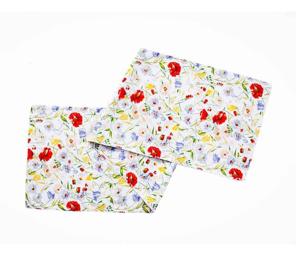 MULTI FLOWER DUCK 2 TABLE RUNNER
