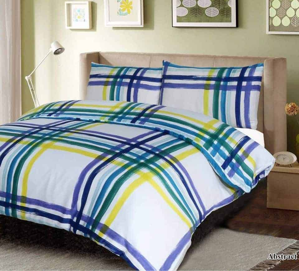 abstract multi quilt cover set