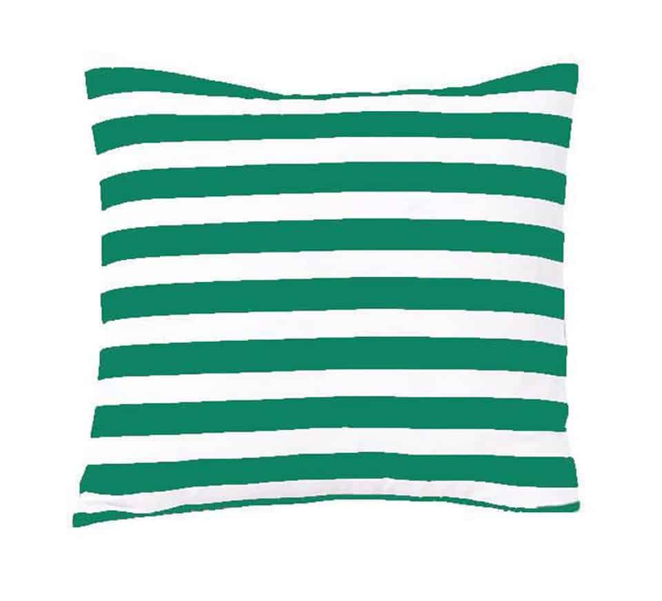 Green Stripes Cushion Cover