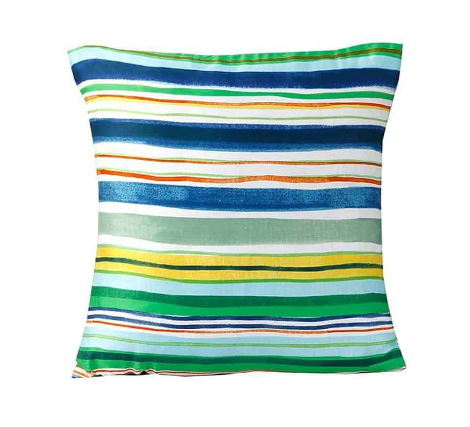 multi stripes cushion cover