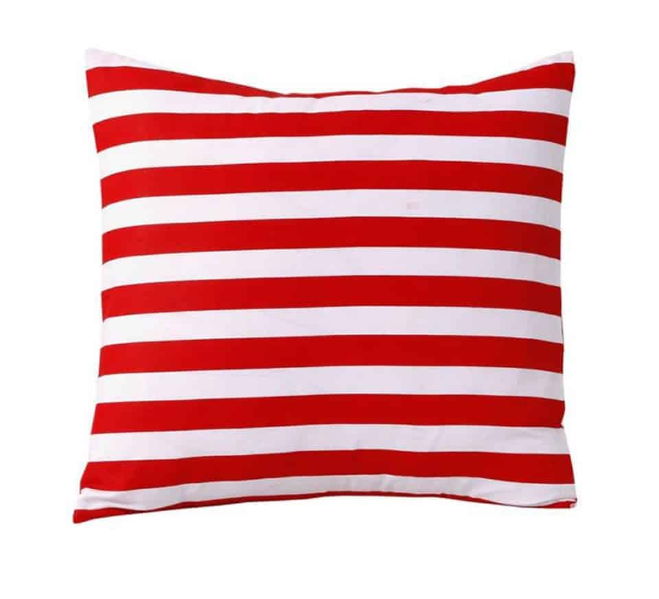 Red Stripes Cushion Cover