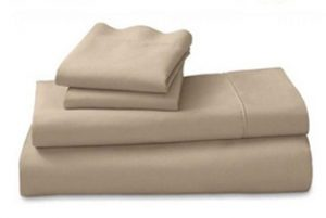 BEIGE FITTED SHEET PILLOW CASE