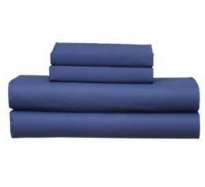 NAVY FITTED SHEET PILLOW CASE