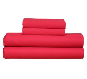 RED FITTED SHEET PILLOW CASE