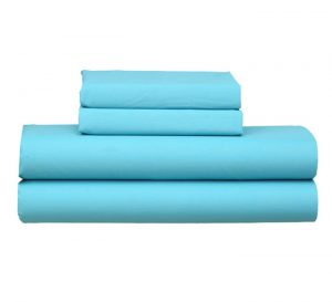 TURQUOISE FITTED SHEET PILLOW CASE