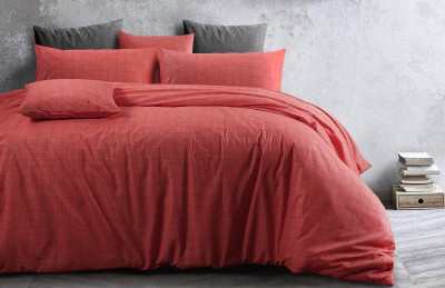 Living Coral Textured Print Quilt Covers & Quilt Cover Sets